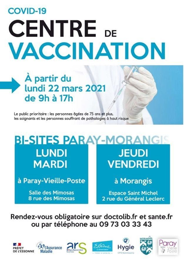 Centre de vaccination bisites Paray-Morangis – Inauguration d'un projet innovant